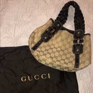 Gucci round small hobo bag brown Pelham